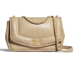 Chanel 翻盖小羊皮链条包