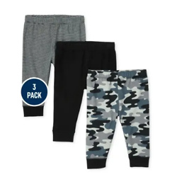 Baby Boys Camo Striped Pants 3-Pack