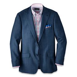 Silk and Wool Herringbone Peak Lapel Sport Coat