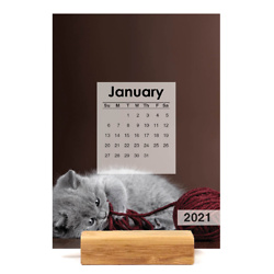 PURR-fect Kittens Easel Calendar