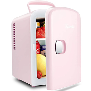 AstroAI Mini Fridge (5 Colors for Choice) 4 Liter/6 Can AC/DC Portable Thermoelectric Cooler and Warmer