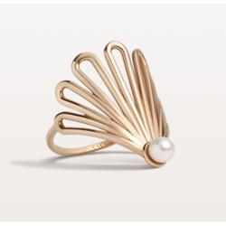 装饰扇珍珠戒指