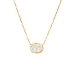 钻石月光石项链