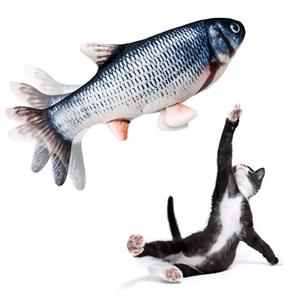 Beewarm 仿真电动摇摆鱼玩具 配猫薄荷