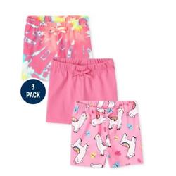 Toddler Girls Print Shorts 3-Pack
