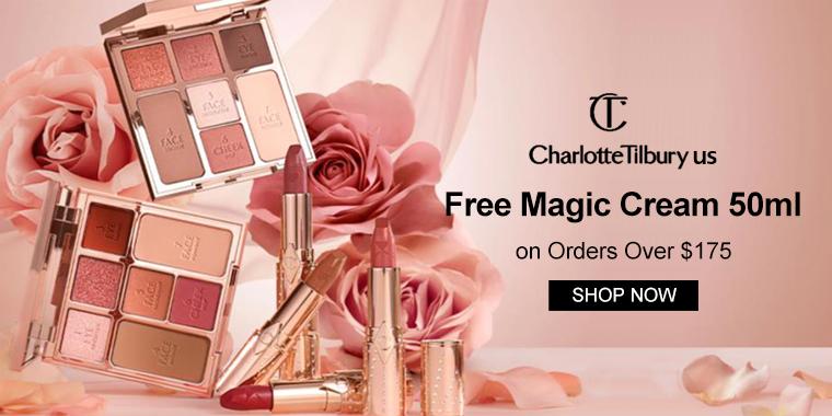 Charlotte Tilbury US: Free Magic Cream 50ml On Orders Over $175