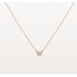 钻石包边项链