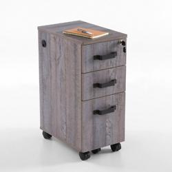 Forge Three-Drawer Mobile Pedestal