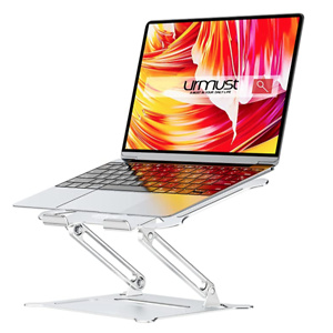Urmust Laptop Notebook Stand Holder, Ergonomic Adjustable Ultrabook Stand Riser Portable Compatible with MacBook Air Pro