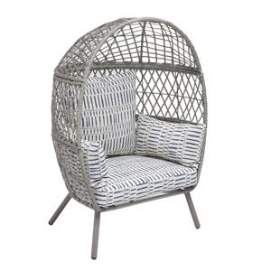 Better Homes & Gardens Ventura Outdoor Kid's Stationary Egg Chair, Gray