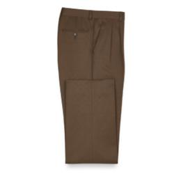 Solid Microfiber Pleated Pants