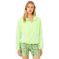 柠檬绿半拉链外套