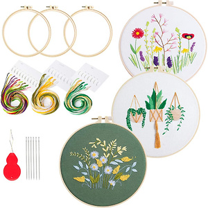 3 Sets Embroidery Starter Kit