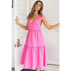 ERENDA粉色连衣裙