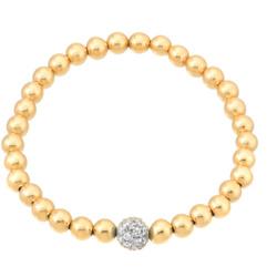 6毫米金珠手链配钻石珠