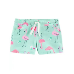 Baby Flamingo Pull-On French Terry Shorts