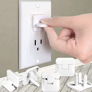 Outlet Covers Babepai 38-Pack White Child Proof Electrical Protector Safety Improved Baby Safety Plug Covers