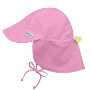 i play. Baby Flap Sun Protection Swim Hat, Light Pink, 0-6 Months