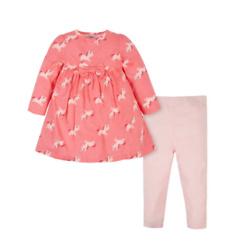 2-Piece Toddler Girls Unicorn Dress & Pants Set