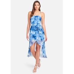 HIGH SLIT FLARE DRESS