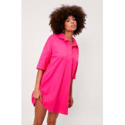 Short-Sleeve Polo Oversized Mini Dress