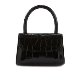 BY FAR Mini Black bag Ava Bag in Triomphe Canvas