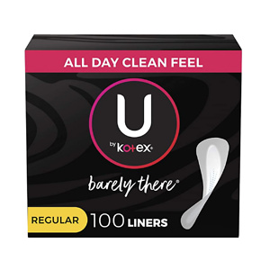 U by Kotex Barely There Thin Panty Liners Unscented