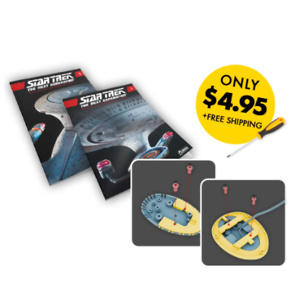 Eaglemoss Collectables: Detailed Replica of Captain Picard's U.S.S. Enterprise For $4.95