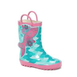Pink & Mint Mermaid Rain Boot - Girls
