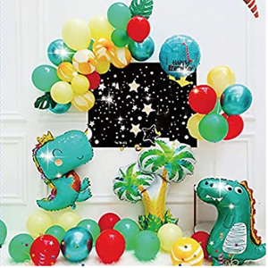 Dinosaur Birthday Party Balloons