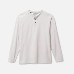 白色有机棉混纺长袖 T恤