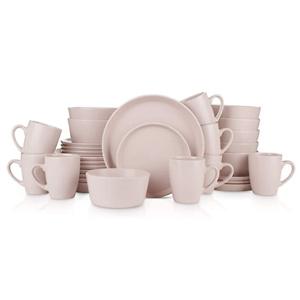 Stone Lain 32 Piece Stoneware Round Dinnerware Set, Service for 8