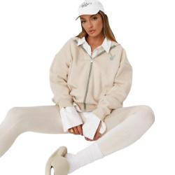 playboy x missguided stone lifestyle zip through hoodie