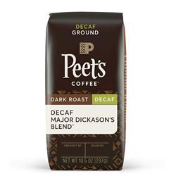 Peet's Coffee Decaf Major Dickason's Blend, Dark Roast Ground Coffee, 10.5 Oz