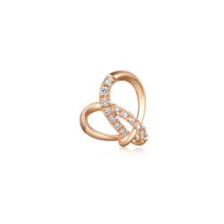 18K 玫瑰金钻石单耳环