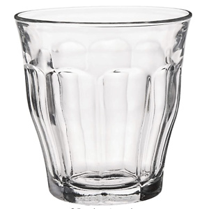 Duralex, Clear 25 cl Picardie Tumbler, Pack of 6, Glass, 8-3/4-Ounce