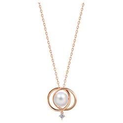 18K 玫瑰金珍珠项链