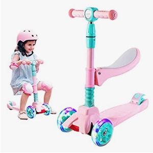 Sulives 3轮儿童可折叠滑板车