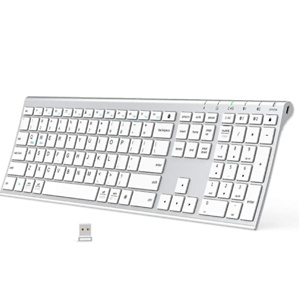 Bluetooth Keyboard, iClever DK03 Wireless Keyboard Multi-Device Keyboard