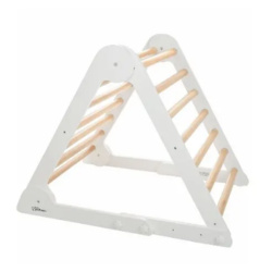 Little Partners Pikler Climbing Triangle - Soft White / Natural (Fully Assembled)