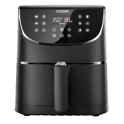 COSORI Air Fryer Max XL(100 Recipes) Digital Hot Oven Cooker, One Touch Screen with 13 Cooking Functions, Preheat and Shake Reminder, 5.8 QT, Black