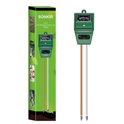 Sonkir Soil pH Meter, MS02 3-in-1