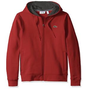 Lacoste Mens Sport Long Sleeve Fleece Full Zip Hoodie