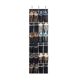 ZOBER Over The Door Shoe Organizer - 24 Breathable Pockets