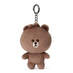 Line Friends Mini Friends Character Soft Plush Stuffed Animal Keychain Key Ring Bag Charm