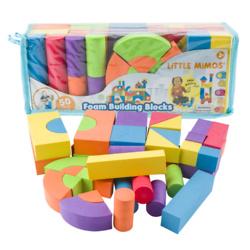 50 Piece Foam Building Blocks Set