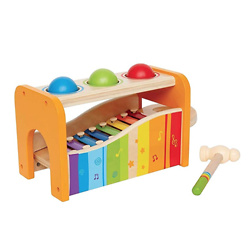 Hape Pound & Tap Bench with Slide Out Xylophone