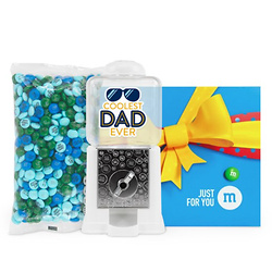 PERSONALIZABLE M&M'S COOLEST DAD EVER DISPENSER IN JUST FOR YOU GIFT BOX