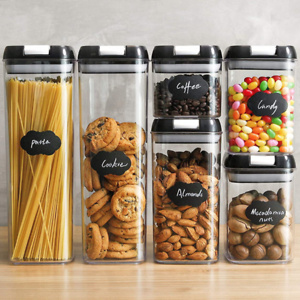 Food Storage Containers, Airtight Containers Set with Easy Lock Lids