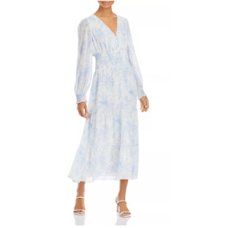 Lucy Paris Floral Print Smocked Midi Dress